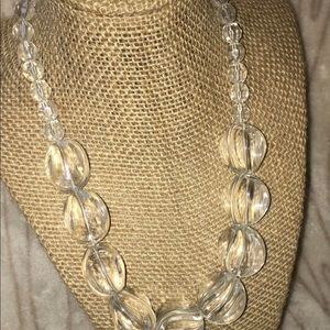 Vintage Clear Celluloid/Lucite Bead Necklace